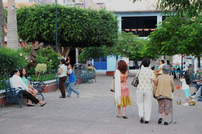 People in the Plaza