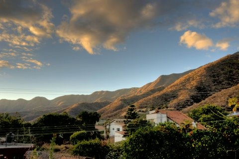 January Sunrise Over the Mountains in Ajijic