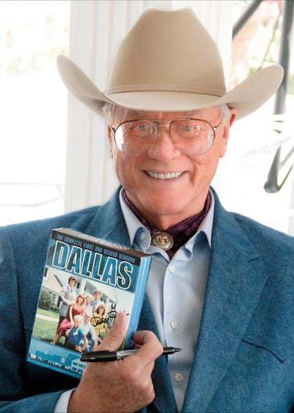 American Film and Television Actor Larry Hagman