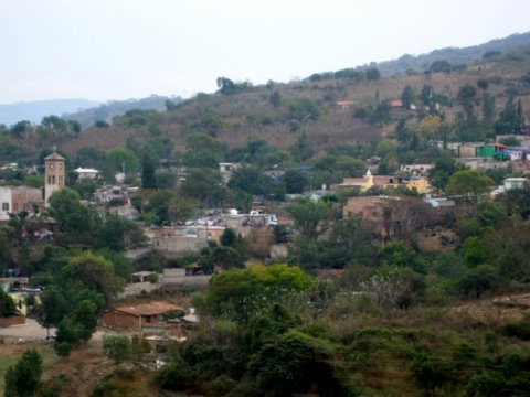 Picture of a village on one of our first trips to Guadalajara after moving here.