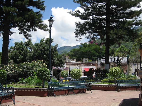 Town plaza.