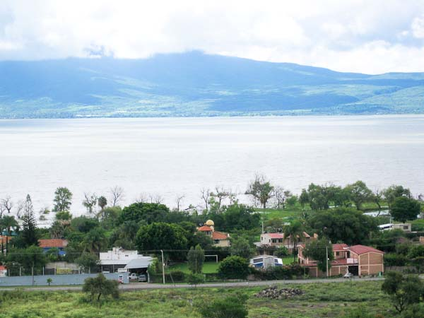 Lake Chapala in the distance.
