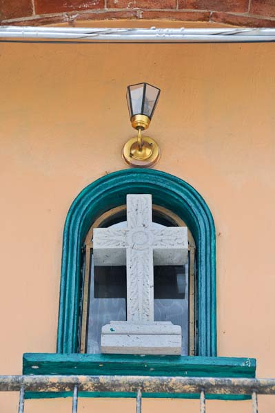 A window cross, just down the block from our home.  This picture was also taken just the other day.