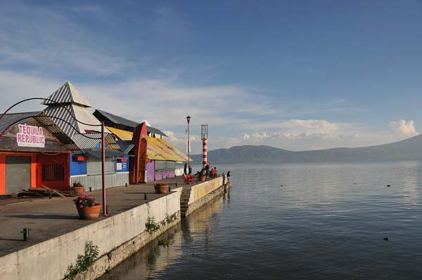 Another view of the pier jetting out into Lake Chapala, Ajijic, Mexico.