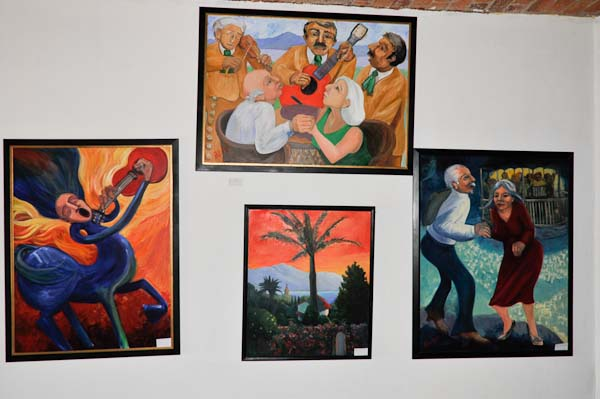 A view of some of the art work gracing the walls of the restaurant.